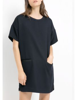 pocket-textured-dress by mango
