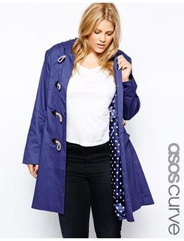 asos-curve-exclusive-hooded-duffle-coat by asos-curve