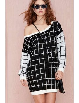 nasty-gal-checkmate-sweater by nasty-gal