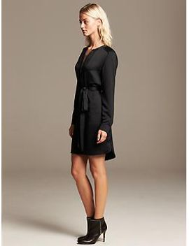 heritage-black-zip-front-shirtdress by banana-repbulic