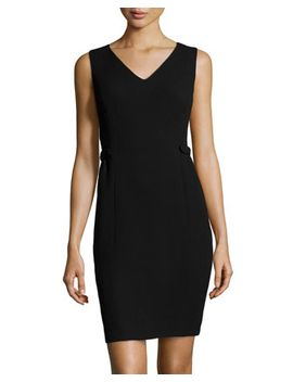 wool-crepe-naya-dress,-black by lafayette-148-new-york