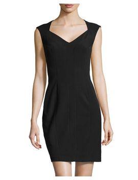 ottoman-knit-portrait-collar-dress,-black by donna-morgan