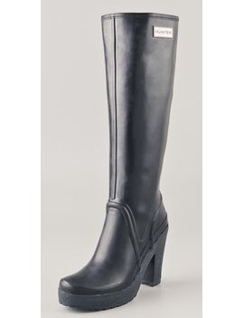 lonny-high-heel-tall-boots by hunter-boots