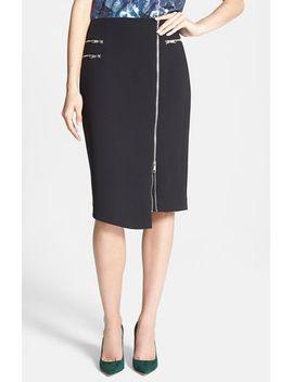 zip-detail-pencil-skirt by trouvÉ
