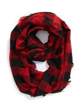 buffalo-plaid-infinity-scarf by steve-madden