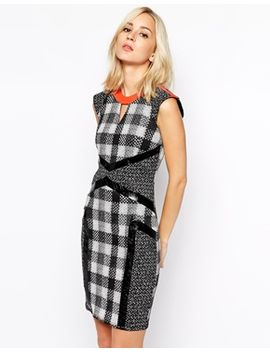 river-island-blocked-check-pencil-dress by river-island