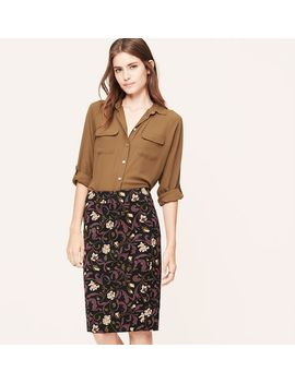 floral-vine-pencil-skirt by loft