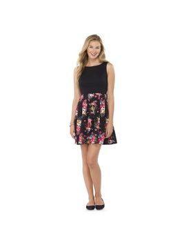 target-:-expect-more-pay-less by -printed-fit-&-flare-dress---xhilaration®