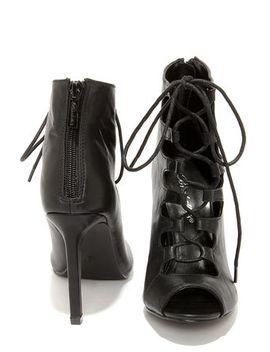 rebeca-21-black-peep-toe-lace-up-heels by lulus
