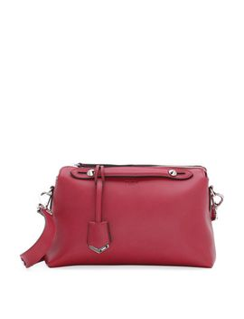 by-the-way-leather-satchel-bag,-red by fendi