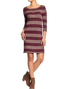 womens-rugby-stripe-sweater-dresses by old-navy