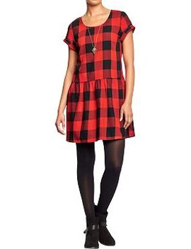 womens-drop-waist-gingham-dresses by old-navy