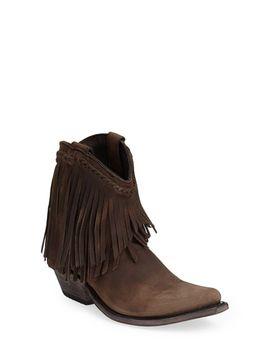 fringe-bootie by liberty-black