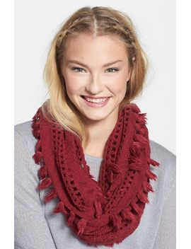 tassel-open-knit-infinity-scarf by bp