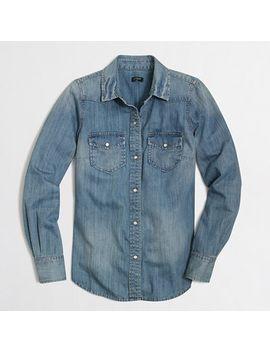 two-pocket-denim-shirt by jcrew