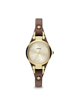 georgia-mini-brown-leather-watch by fossil