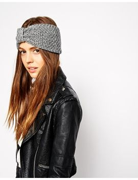 asos-turban-headband-in-wool-mix-moss-stitch by asos-collection