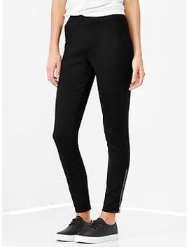 side-zip-leggings by gap