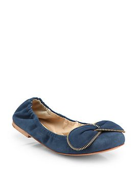 suede-bowtie-ballet-flats by see-by-chloé