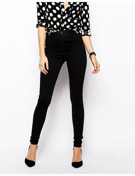 asos-rivington-high-waist-denim-jeggings-in-washed-black by asos-collection