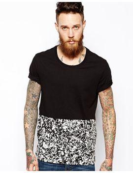 line-8-t-shirt-paintsplatt-print-bottom by levi's