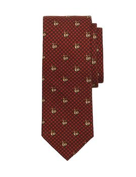 fox-print-tie by brooks-brothers