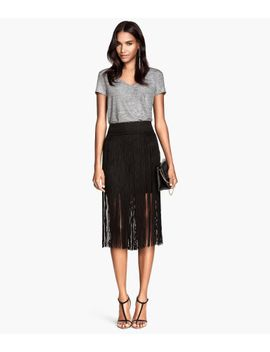 fringed-skirt by h&m