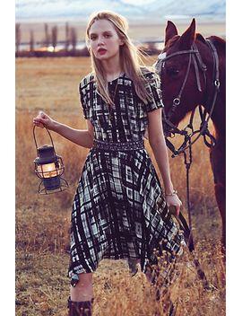 painted-plaid-dress by corey-lynn-calter