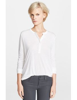 long-sleeve-contrast-placket-henley-top by vince