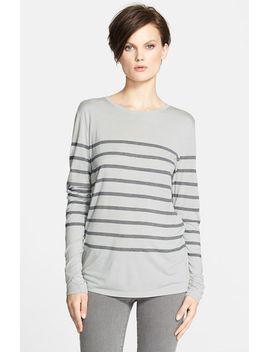 stripe-long-sleeve-crewneck-tee by vince