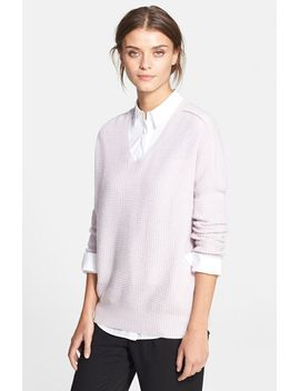 wool-&-cashmere-double-v-neck-sweater by vince