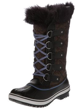 sorel-tofino-nylon-chili_black-ladies-winter-boots by sorel