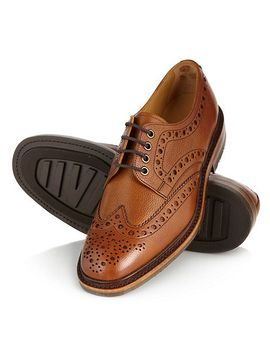 loake---tan-grain-leather-brogues by loake