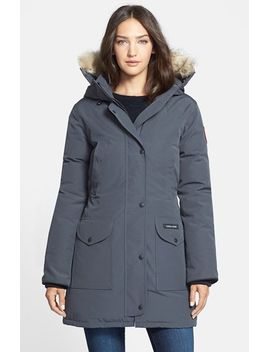 trillium-regular-fit-down-parka-with-genuine-coyote-fur-trim by canada-goose