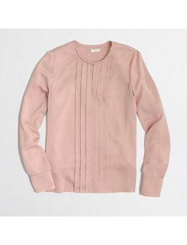 factory-pleated-blouse by jcrew