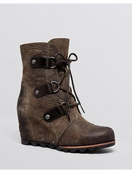 joan-of-arctic-waterproof-cold-weather-lace-up-wedge-boots by sorel