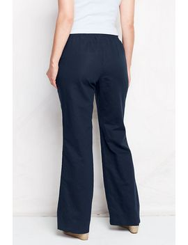 womens-plus-size-linen-cotton-pants-with-back-smocking by lands-end