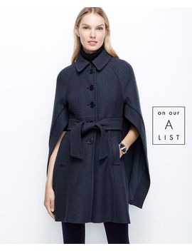 petite-buttoned-up-boiled-wool-cape by ann-taylor