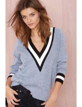 boys-club-sweater---heather-blue by nasty-gal