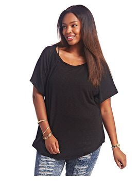 short-sleeve-crochet-inset-top by wet-seal