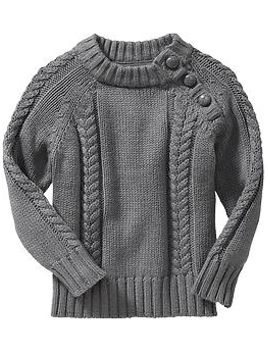 button-neck-cable-knit-sweaters-for-baby by old-navy