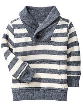 striped-shawl-collar-pullovers-for-baby by old-navy