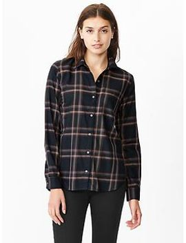 fitted-boyfriend-plaid-shirt by gap
