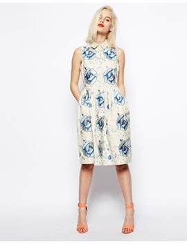 asos-premium-embroidered-skater-dress-with-blue-flowers by asos-collection