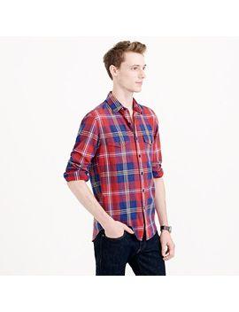 tall-herringbone-flannel-shirt-in-classic-plaid by jcrew