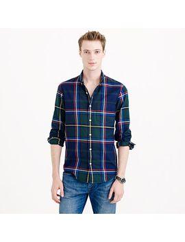 slim-thomas-mason®-for-jcrew-flannel-shirt-in-classic-pine by slim-thomas-mason