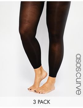 asos-curve-3-pack-50-denier-footless-tights by asos-curve