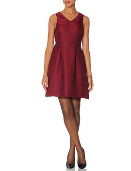 floral-lace-fit-&-flare-dress by the-limited