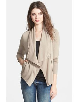 drape-neck-zip-cardigan-(regular-&-petite) by caslon®