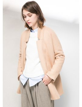 unstructured-wool-blend-coat by mango